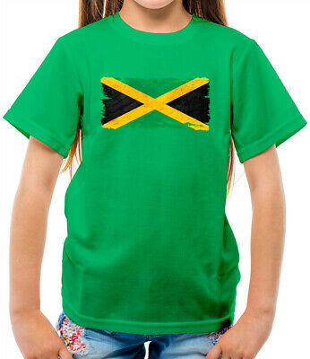 Jamaica Grunge Style Flag - Kids T-Shirt - Jamaican - Flags - Travel - Country