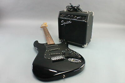Squier by Fender Affinity Stratocaster Laurel Montego - Black Metallic w/ AMP