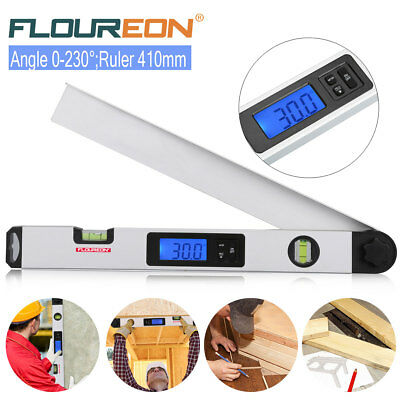 Floureon Digital 0-230° LCD Protractor DIY Meter Level Angle Finder Gauge Ruler