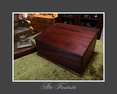 Antique Religious Bible Box / Chest / Writing Slope made from Teak Wood Very Old