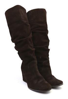 9040037b3 SCHUH WOMENS EU Size 38 Brown Leather Slouch Boots - £42.92 ...