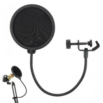 Black Double-Layer Studio Recording Microphone Filter Windscreen Mask Shield