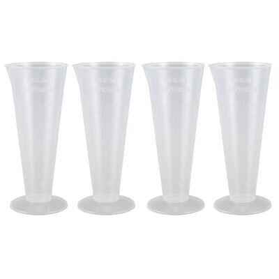 Plastic Conical Laboratory Graduated Measuring Cylinder Cup 50ml 4 Pcs Y7B1