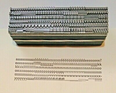 12 point GILL SANS MEDIUM LOWERCASE 3A Letterpress Metal Printing Type