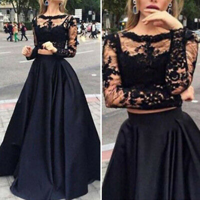 Casual Dress set Tops Skirt Prom Sexy Women's Ladies See through Hollow