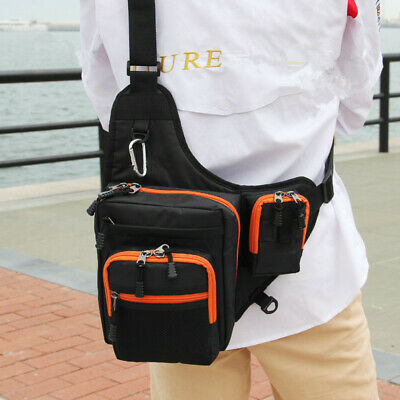 Fly Fishing Sling Pack Bag Outdoor Chest Bag Fishing Sling Backpack Orange K5D0 Fishing Equipment Tackle Boxes & Bags