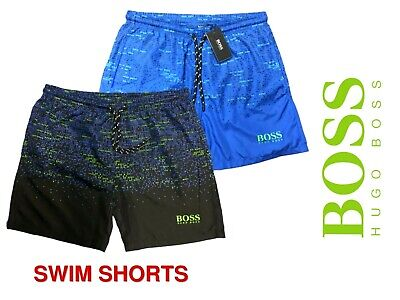 Hugo Boss Swim Shorts  For Man  All Over Print in Quick-Dry Fabric | Summer Sale