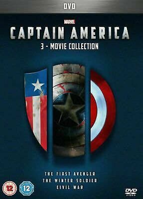 Captain America 1-3 DVD BoxSet 3 Movies Collection UK REGION 2 New/Sealed