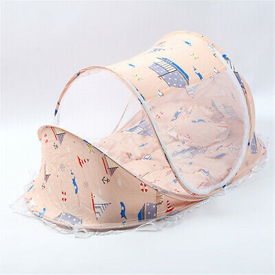3Pcs/Set Baby Crib Sets Mosquito Net Portable Folding Type Infant Pad Bedding