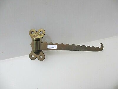 Victorian Brass Fireplace Pan Hook Stove Kettle Hanger Antique Old Arm Basket