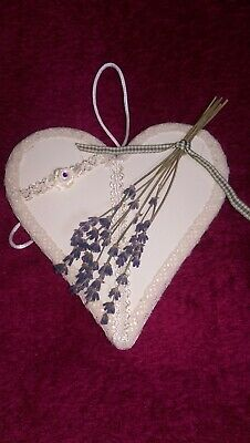 Dried Lavender Hand Crafted Heart.