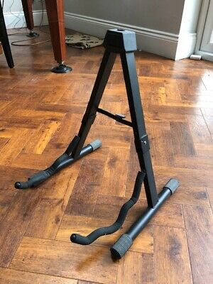Guitar Stand Foldable A-Frame Music Floor Electric Acoustic Bass Used