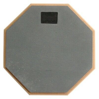 8 inch Soft Gray Dumb Drum Pad Exercise Mat Blow Plate Drummer Wood+rubber Z2F5