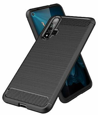 For Honor 20 Case Carbon Fibre Cover & Glass Screen Protector
