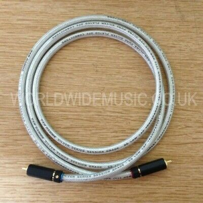A Pair of 2 Van Damme Silver Series Lo-Cap 55pF Interconnect cables - RCA Plugs