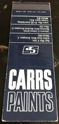Matchbook Cover Carrs Paints Priory Victoria