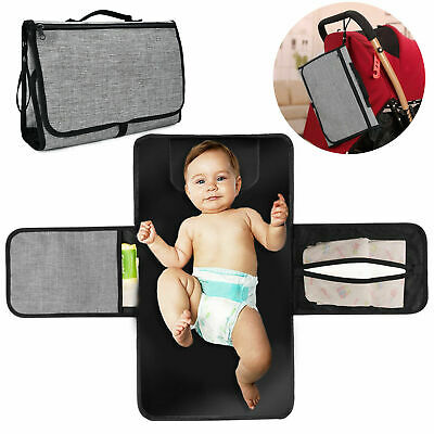 Baby Portable Folding Diaper Travel Changing Pad Waterproof Mat Bag Storage