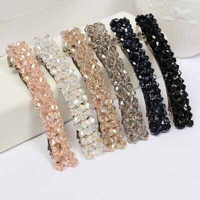 Women Girls Bling Headwear Crystal Rhinestone Hair Clip Hairpin Barrette