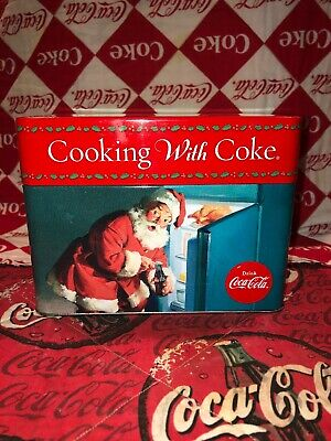 """Cooking With Coke"" Coca Cola Tin And Recipe Cards 6.5""x 4""x5"""