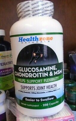 Glucosamine Chondroitin MSM - 250 Capsules - Joint Support Health Supplement