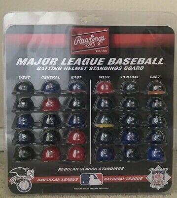 Rawlings Major League Baseball Batting Helmet Standings Board Mini