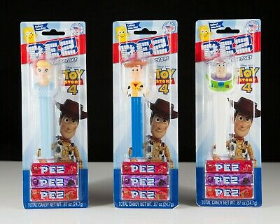 New Pez Toy Story 4 -  Woody, Bo Peep and Buzz Pez Dispensers