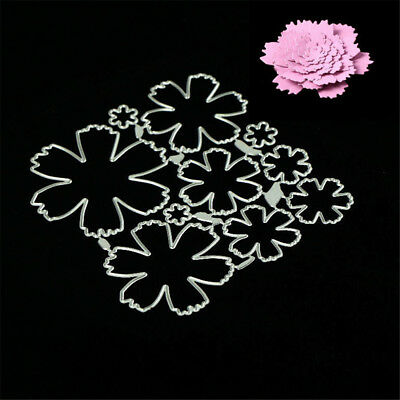 Stereoscopic flowers Metal Cutting Dies Stencils for DIY Scrapbook Album Card UK