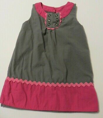 113f214670b715 Lilly Wicket Girls Dress Size 3T Grey w/Pink Trim Sleeveless Fully Lined  VGUC