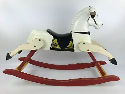 Vintage Rich Toys Rocking Horse Small Scale Wood Plastic Rare