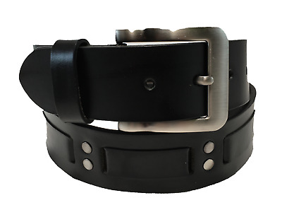 Men's Genuine Leather Belt w/ Nickel-Polished Buckle! Great for Every Occasion!!