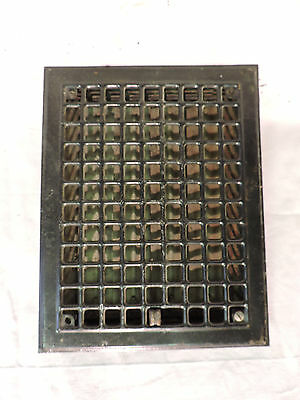 Vintage 1920S Iron Heating Grate Square Design 14 X 11