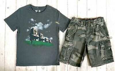 7 8 Years M&S Minecraft Gap Tops Shorts Boys Trendy Summer Outfit Clothes Bundle