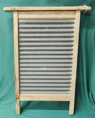 Nice Old Vintage Tin Washboard Possibly Homemade