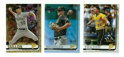 PIRATES Gold Rainbow Foil 150th Stamp 2019 Topps Series 1 & 2 You Pick Team Set