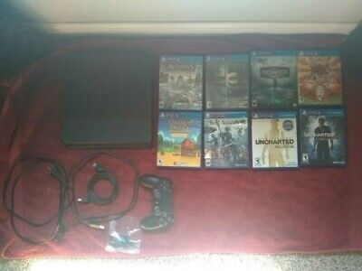 PS4 Playstation 4 500 GB console with 13 games Nier Bioshock Stardew Uncharted
