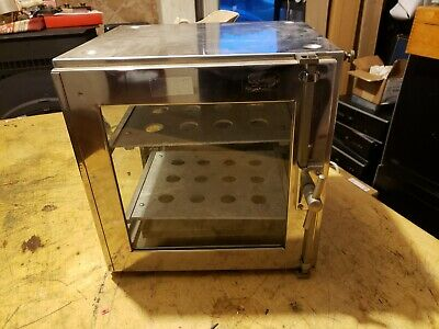 """Used Fisher Scientific 12"""" Stainless Steel & Glass Dessicator drying cabinet"""