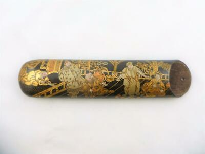 Antique 19thc Chinese Chinoiserie  Lacquer Etui Spectacles Glasses Case c1880s