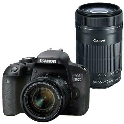 Canon EOS 800D 24.2MP DSLR Camera with Canon 18-55mm and 55-250mm IS STM Lens