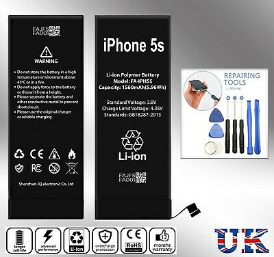 New Replacement Battery For IPhone 5S 5C 1560 mAh Zero Cycle+TOOLS