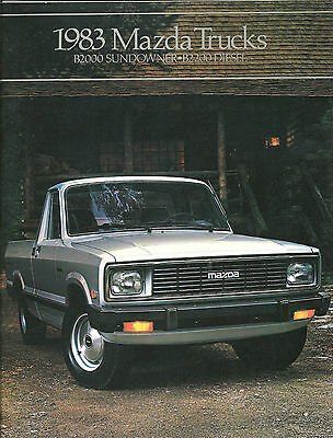 1983 MAZDA PICKUP Truck Brochure/Catalog: B2000,Pick Up,SUNDOWNER,B-2000,B2200