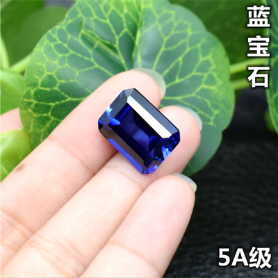 Top Quality ROYAL BLUE SAPPHIRE EMERALD CUT 3x5mm to 15x20mm AAAAA+ LOOSE GEMS
