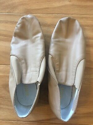 PREOWNED BLOCH Jazz Shoes Kids Girl TAN Size 8.5