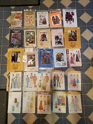SEWING: PATTERN: LOT OF 25, CALICO, KINDRED, McCALLS, SIMPLICITY, BUTTERICK VTG