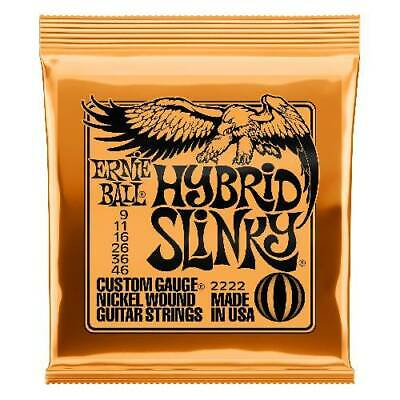 Ernie Ball 2222  Hybrid Slinky Custom Electric Guitar Strings 9-46 Gauge