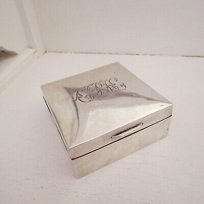 Nice sterling silver wood lined box HM 1909 London