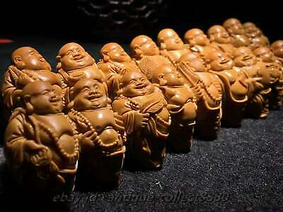 Chinese Olive Dentoliva Carved 20PCS Bead Maitreya Buddha Vogue Bracelet ZAB-108