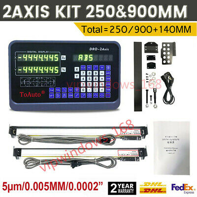 "10"" x 36"" TTL Linear Scale 2Axis Digital Readout 5µm Encoder Milling DHL Ship"