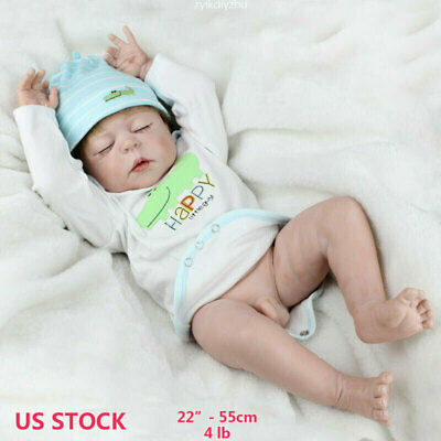 "22"" Reborn Baby Dolls Full Body Vinyl Silicone Newborn Baby Boy Doll Xmas Gifts"