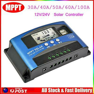 30-60A MPPT Solar Panel Regulator Battery Charger Controller 12/24V With LCD USB