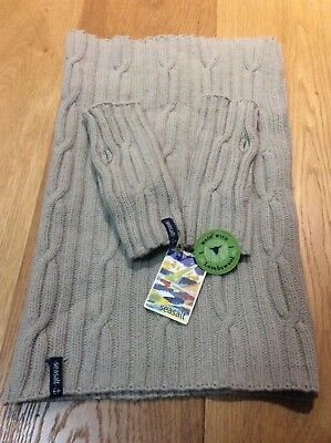 Seasalt Trevance Cowl & Matching Fingerless Mittens - One Size  - Parchment